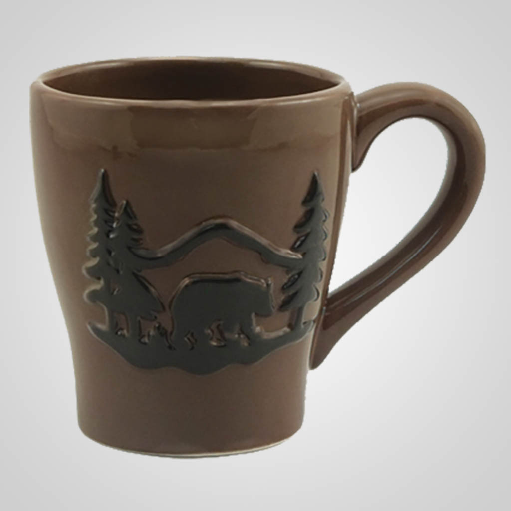 19197PP - Embossed Bear Mug, Name-Drop