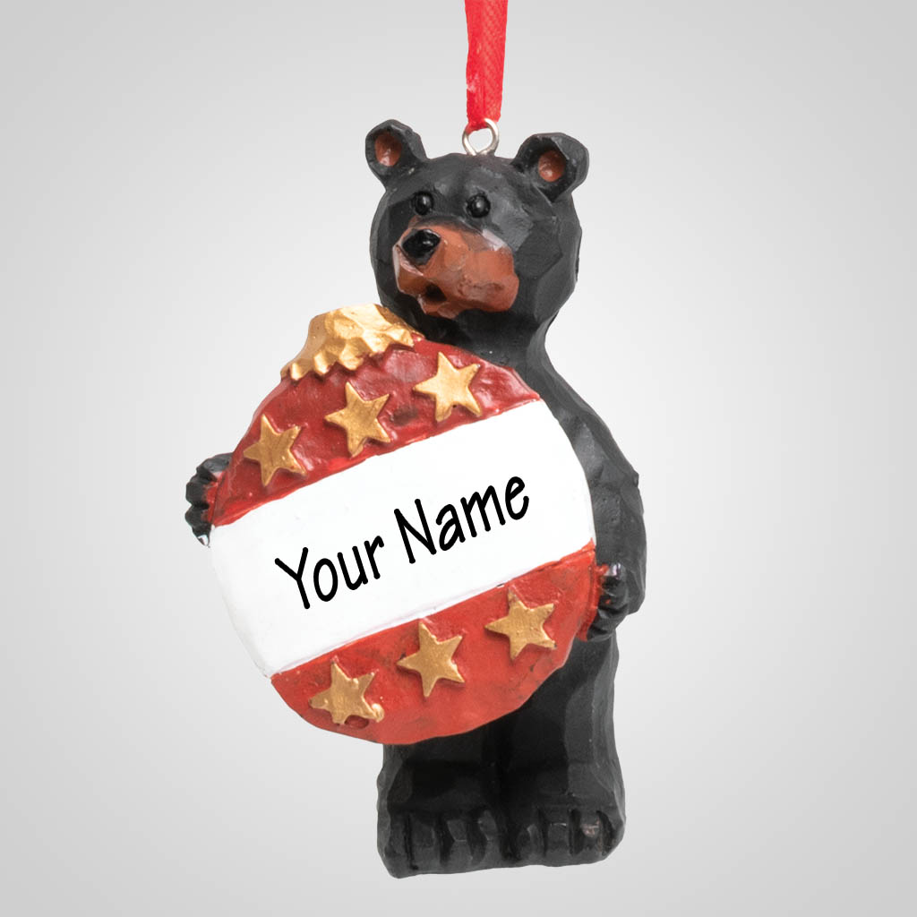 19201 - Ornament Bear, Name-Drop