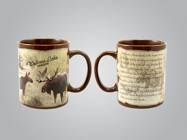 59204YS - Moose Full-Wrap Mug, 1 Color Print