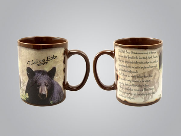 59205GSM - Black Bear Full-Wrap Mug, 1 Color Print