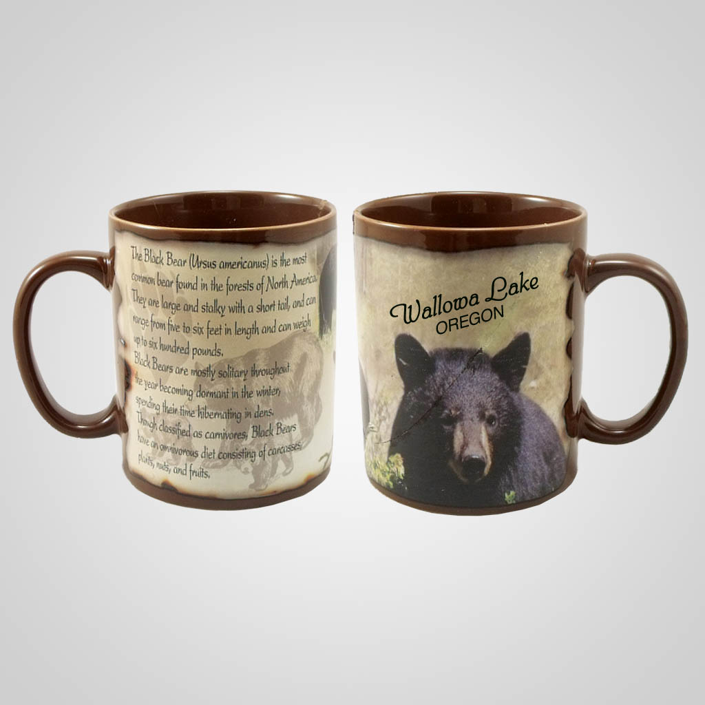 19205PP - Black Bear Full-Wrap Mug, Name-Drop