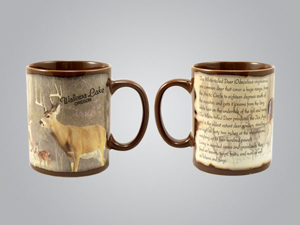 59206MN - Whitetail Deer Full-Wrap Mug, 1 Color