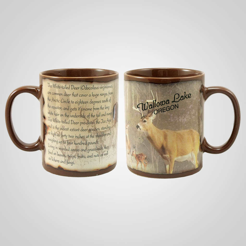 19206PP - Whitetail Deer Full-Wrap Mug, Name-Drop