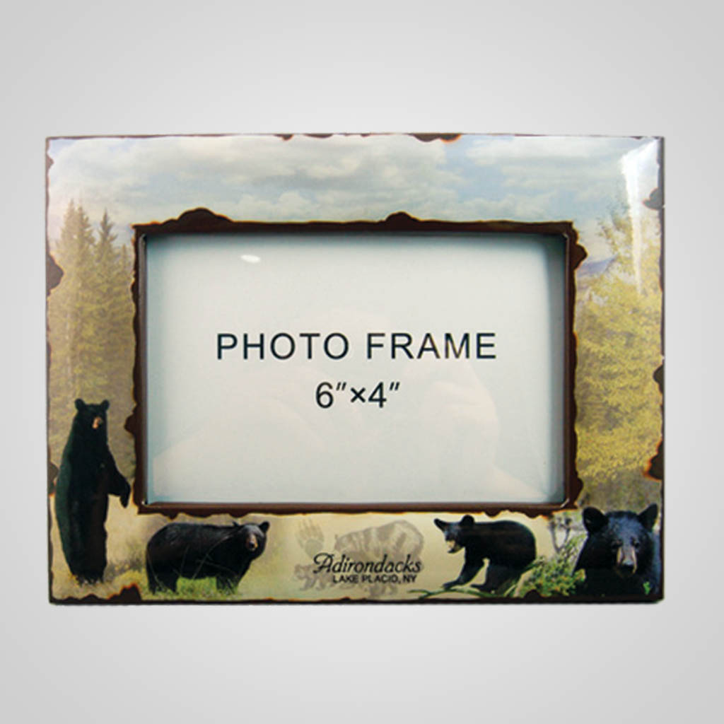 19211PP - Black Bear Photo Frame, Name-Drop