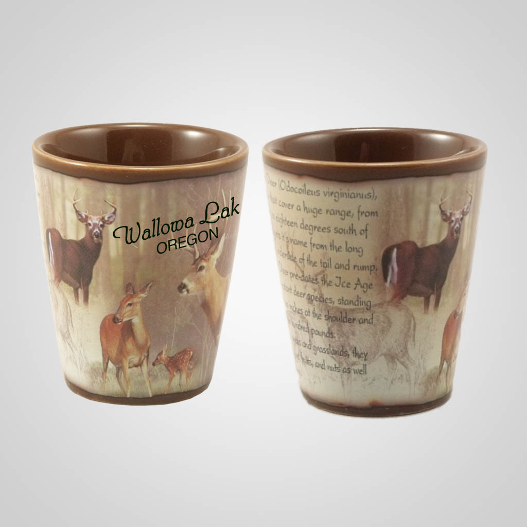 19215PP - Whitetail Deer Full-Wrap Shot Glass, Name-Drop