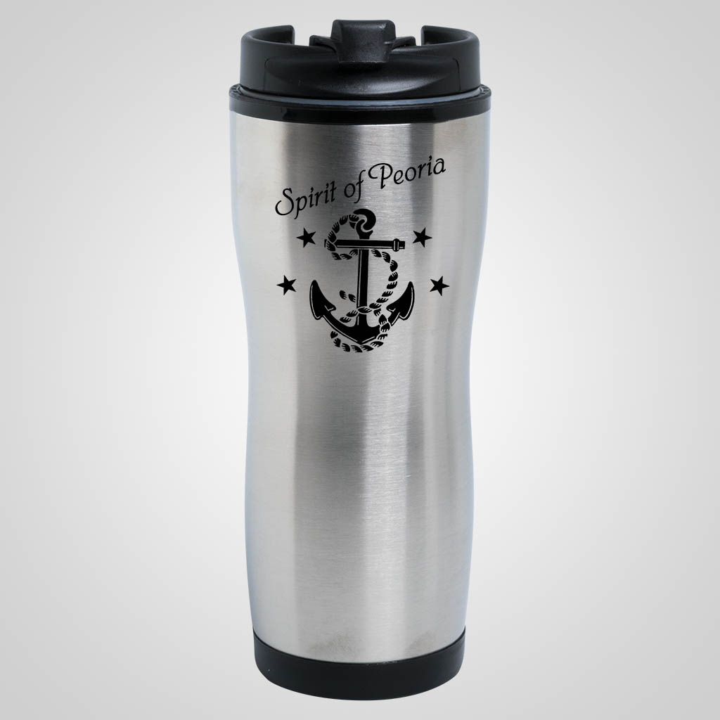 19231PP - Steel Finish Travel Tumbler - 1 Color Print