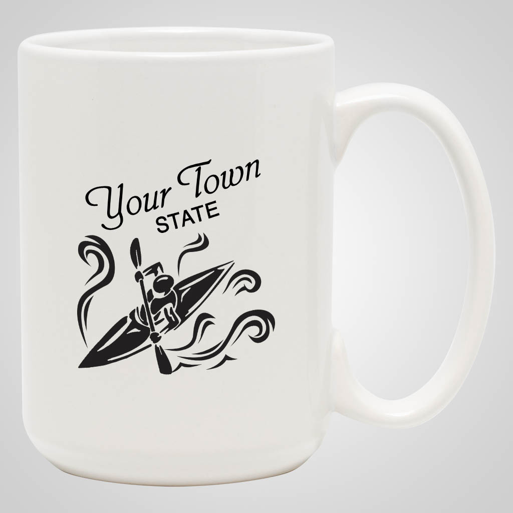 19233PP - White 15 oz Mug, 1 Color Print