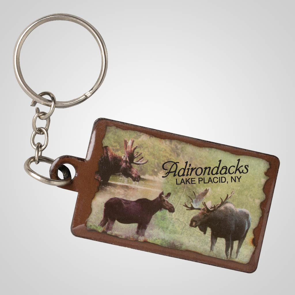 19237 - Moose Montage Keychain, Name-Drop