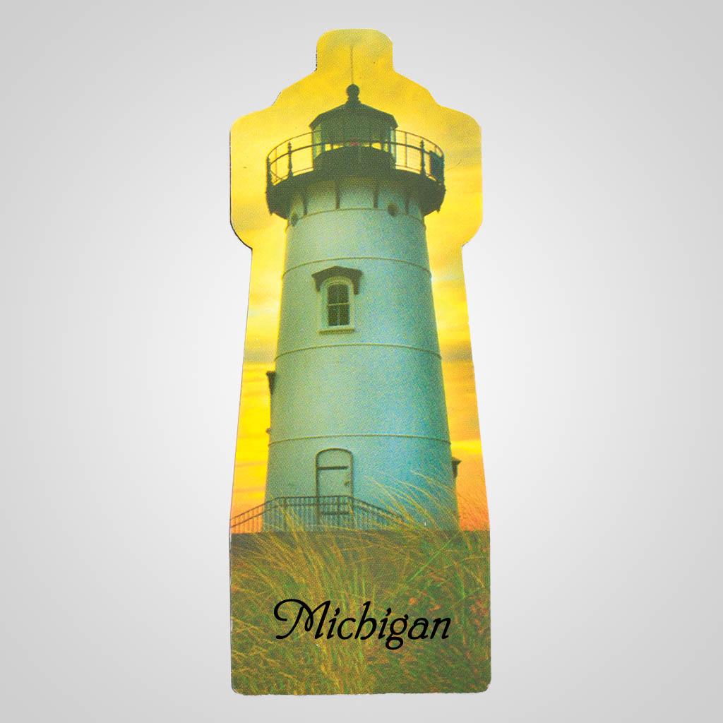 19243 - Lighthouse Sunset Magnet, Name-Drop
