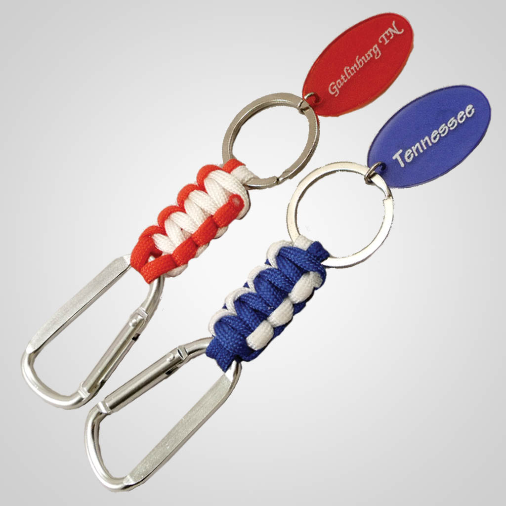 19244 - Paracord & Clip Keychain, Name-Drop