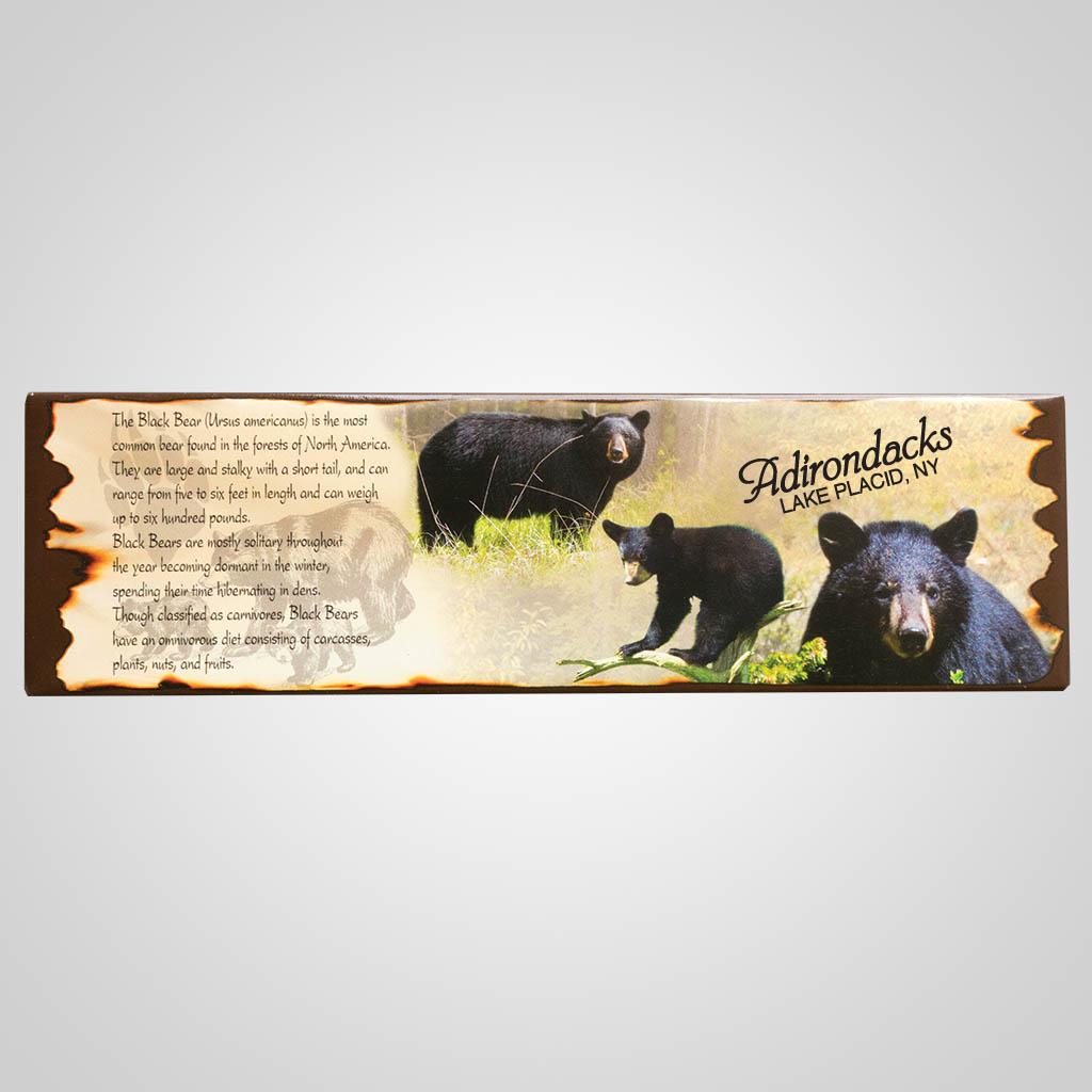 19246 - Black Bear Tin Magnet, Name-Drop