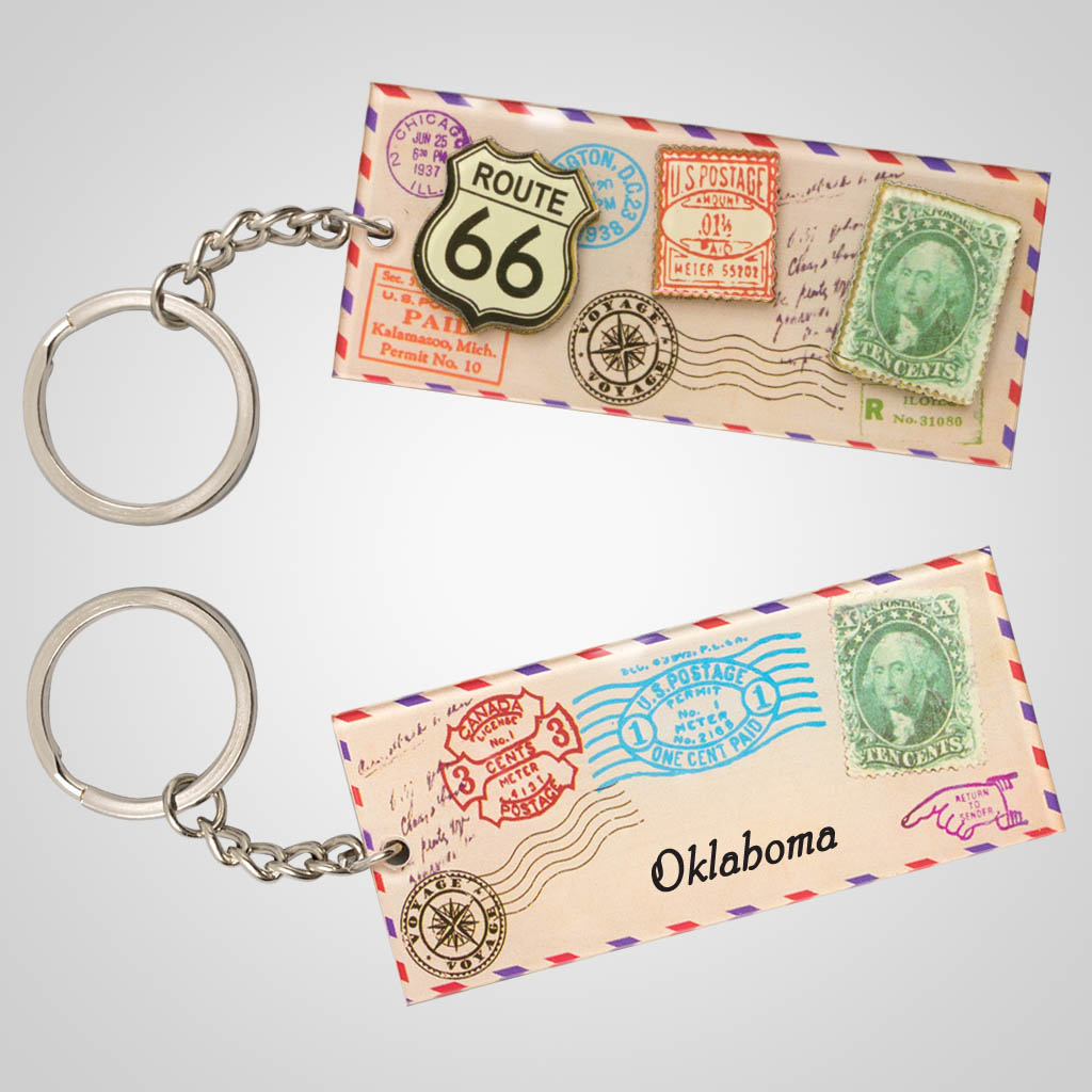 19248 - Airmail Letter Keychain, Name-Drop