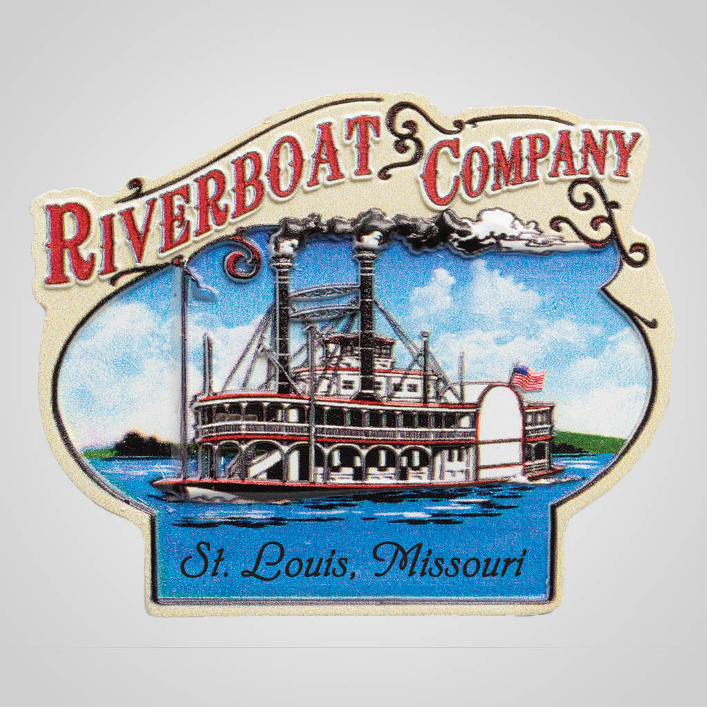 19249 - Retro Riverboat Magnet, Name-Drop
