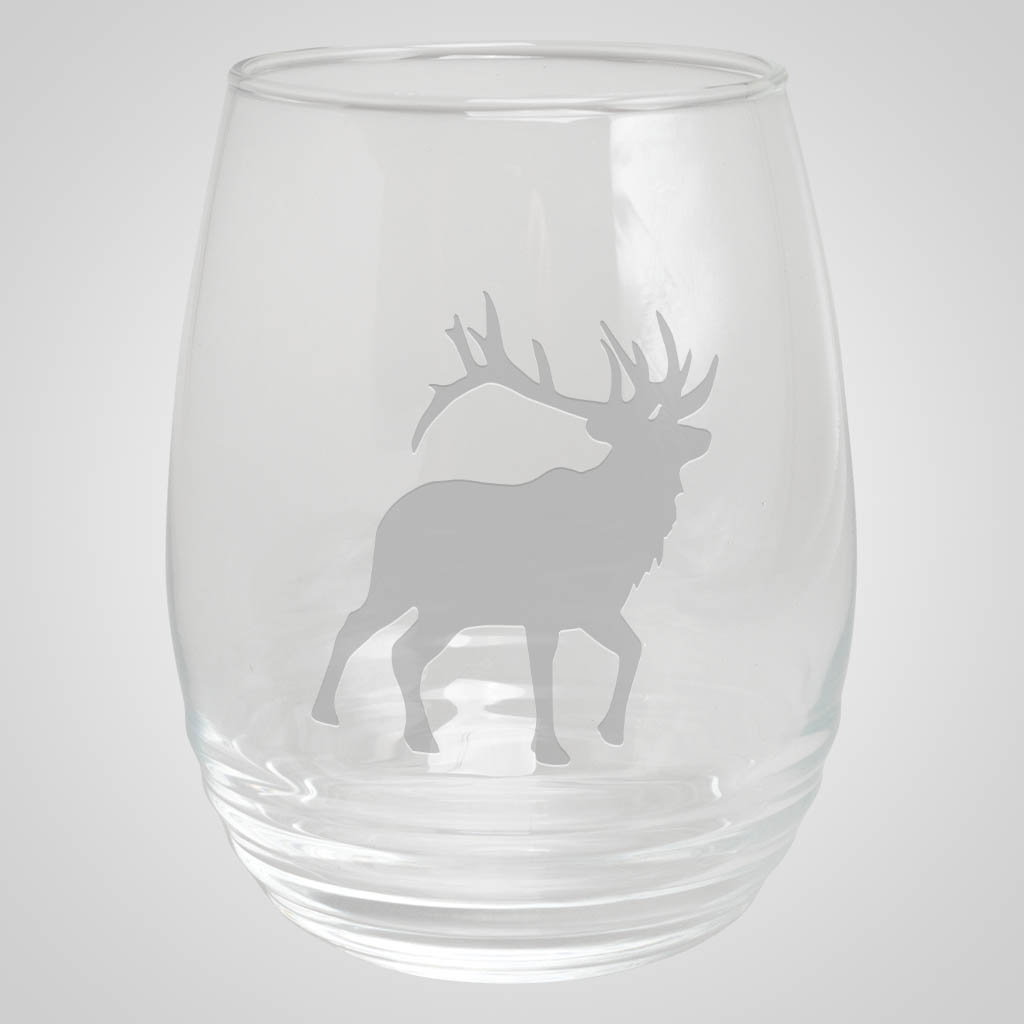 19280PP - Ribbed Stemless Wine Glass, 1 Color Print