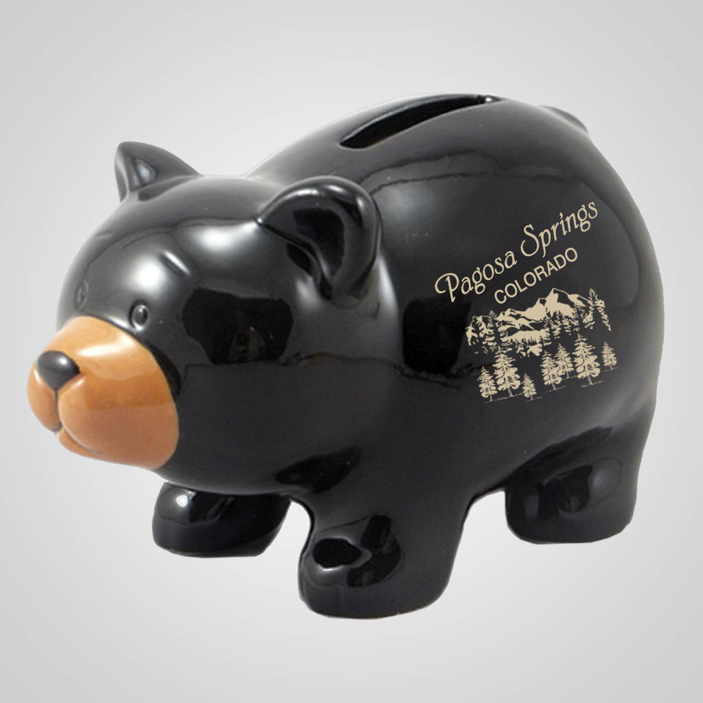 19291PP - Ceramic Bear Coin Bank - 1 Color Print