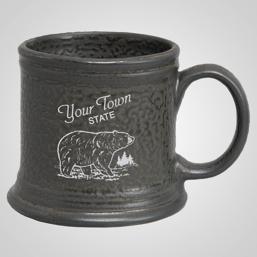 19294PP - Hammered Pewter Look Mug, 1 Color Print