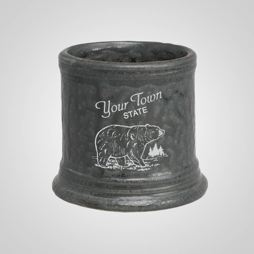 19295PP - Hammered Pewter Look Shot Glass, 1 Color Print