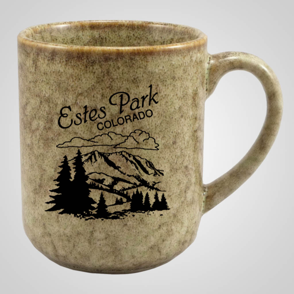 19300PP - Moss Green Glaze Mug, 1 Color Print