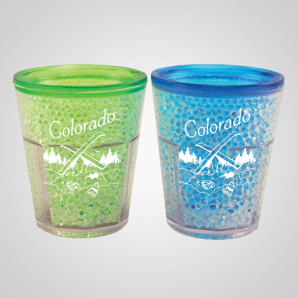19303PP - Freezer Gel Shot Glass - 1 Color Print