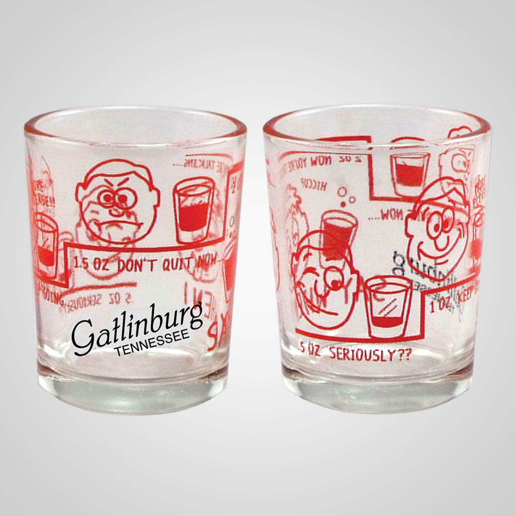 19307PP - Say When Novelty Double Shot Glass, Name-Drop