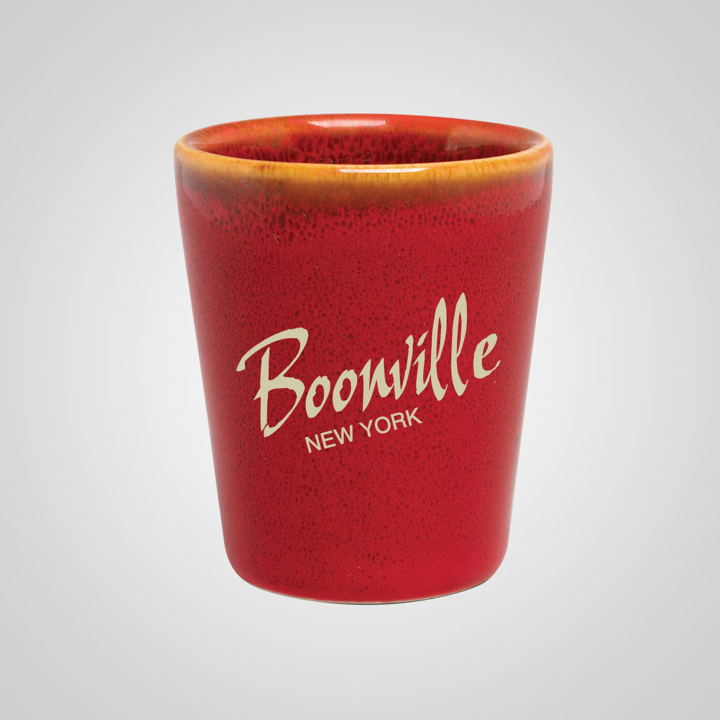 19309PP - Red Glaze Shot Glass, 1 Color Print