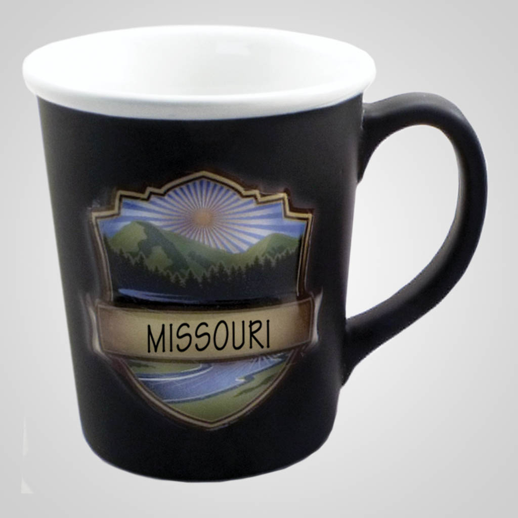 19476PP - Embossed Emblem Badge Mug