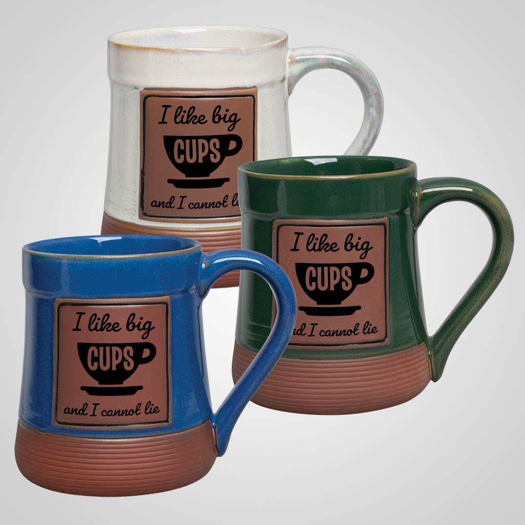 19489PP - Large Brown Base Pottery Mug