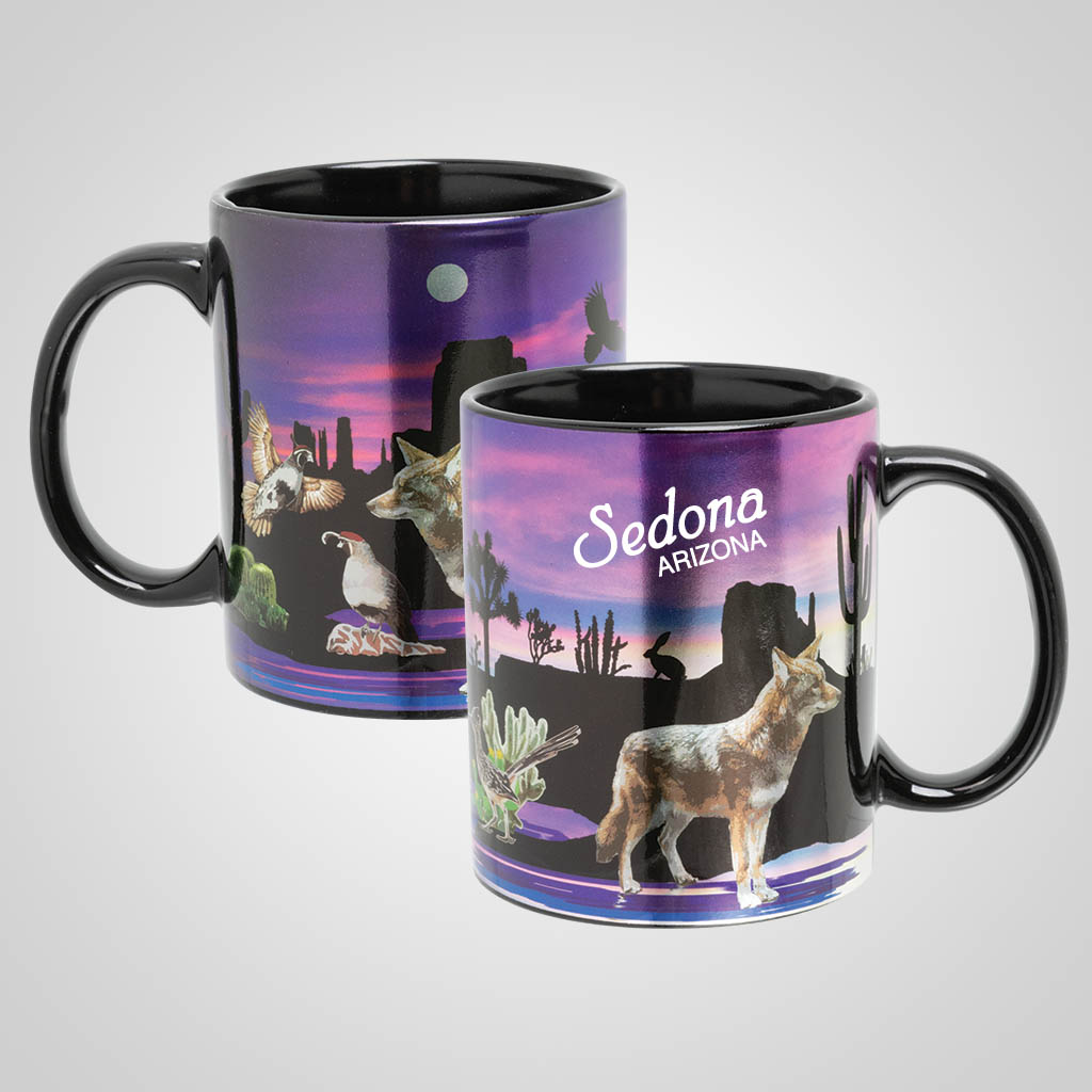 19520PP - Sunset Desert Scene Foil Mug, Name-Drop
