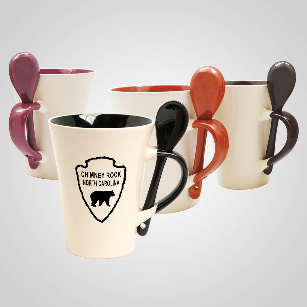 19525PP - Color-Inside Mug With Spoon, 1 Color Print