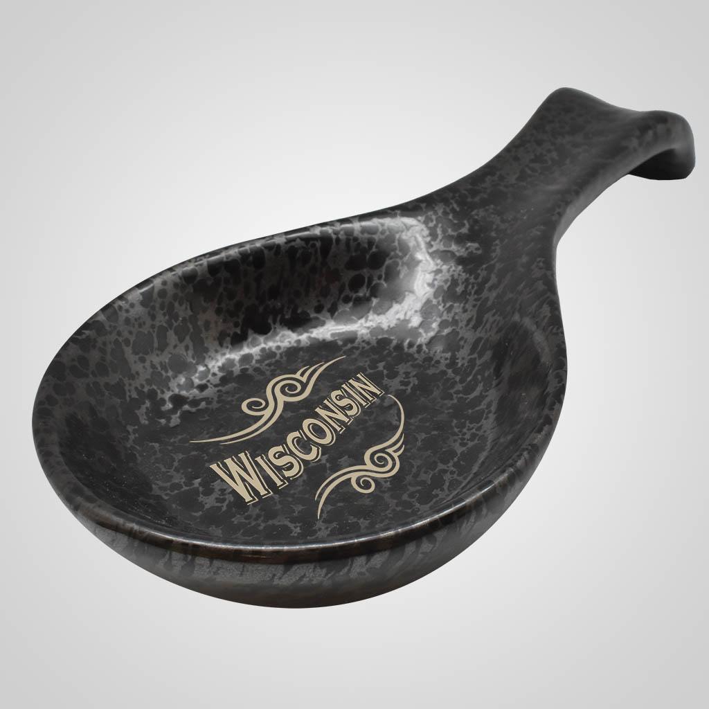 19537PP - Black Terracotta Spoon Rest