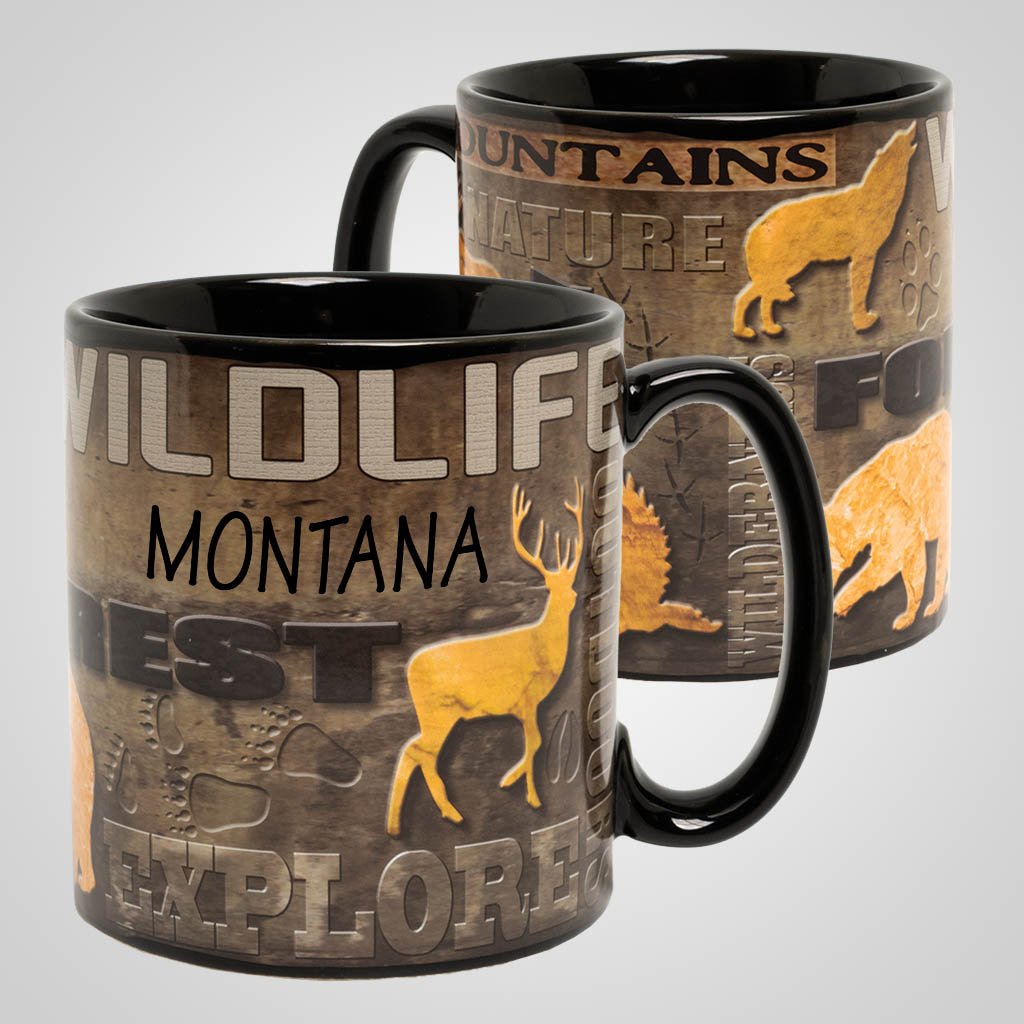 19540PP - Wildlife Full Wrap Mug, Name-Drop