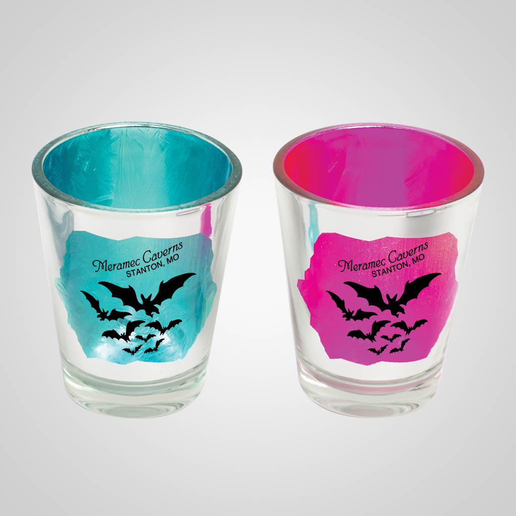 19544PP - Chrome Crackle Shot Glass - 1 Color Print