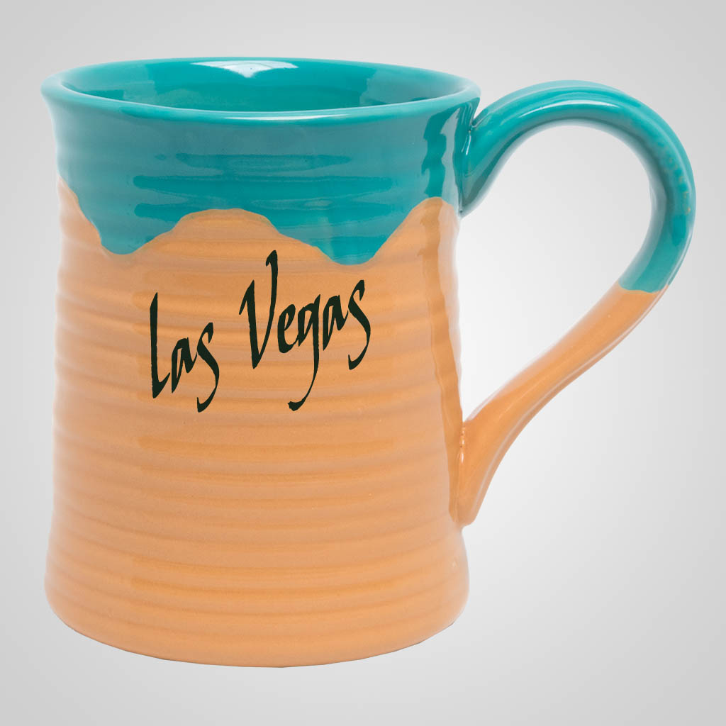 19545PP - Large Two-Tone Pottery Mug, 1 Color Print