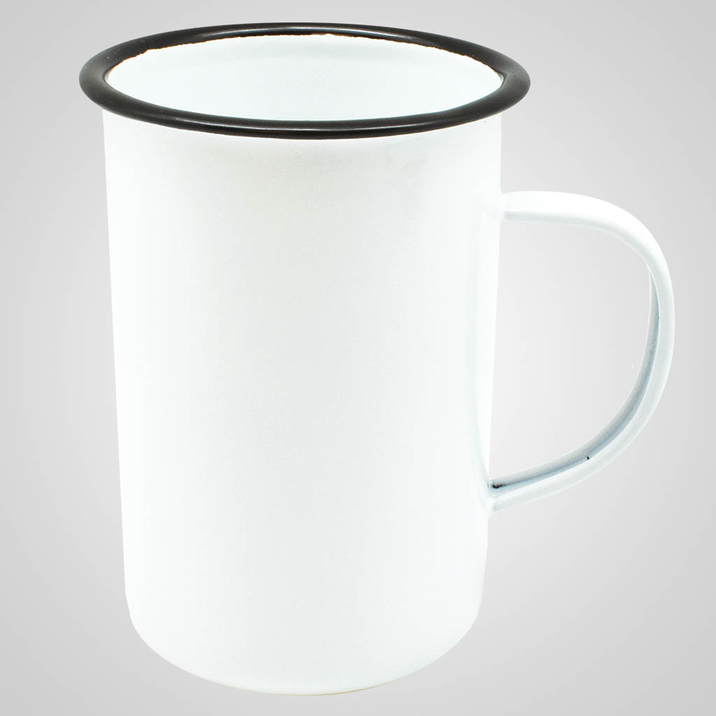 19562PPM - Tall Enamelware Mug - Multi - Color Print