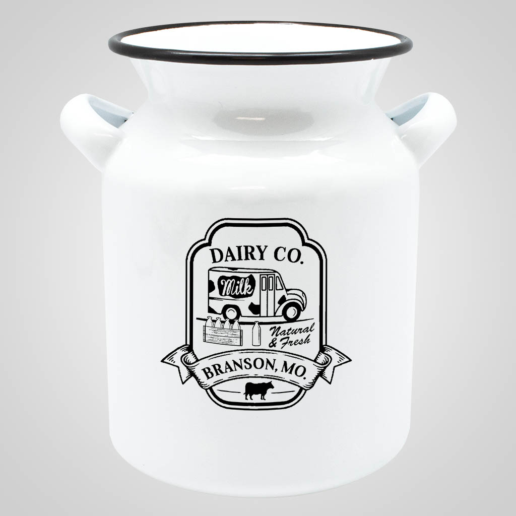 19565PP - Enamelware Milk Can - 1 Color Print