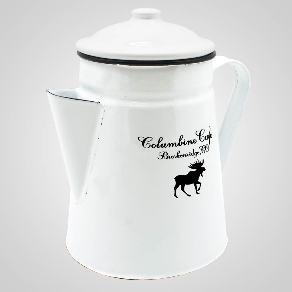 19566PP - Enamelware Coffee Server - 1 Color Imprint