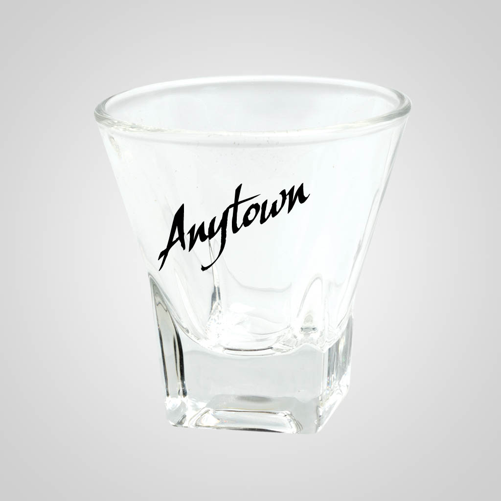 19674PP - Square-Base Tapered Shot Glass- 1 Color Print