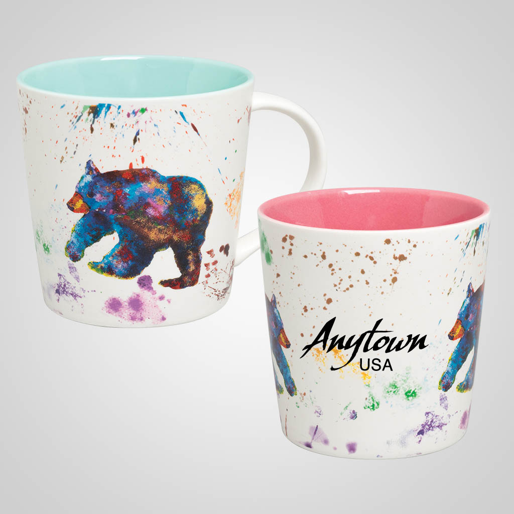 19683PP - Bear Watercolor Wrap Mug, Name-Drop