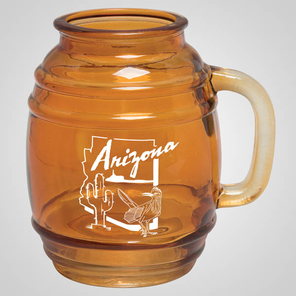 59694AL - Amber Glass Keg Mug, Alabama
