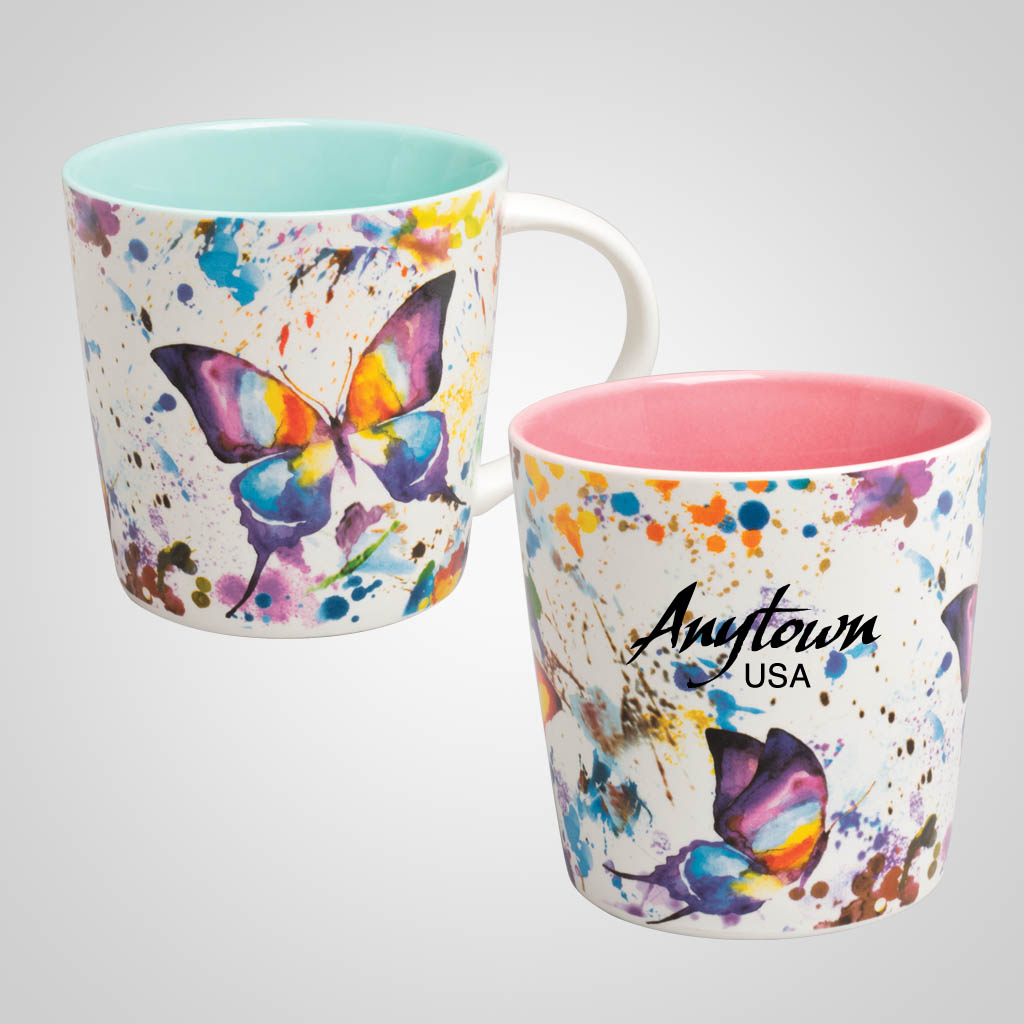 19704PP - Butterfly Watercolor Mug, Name-Drop