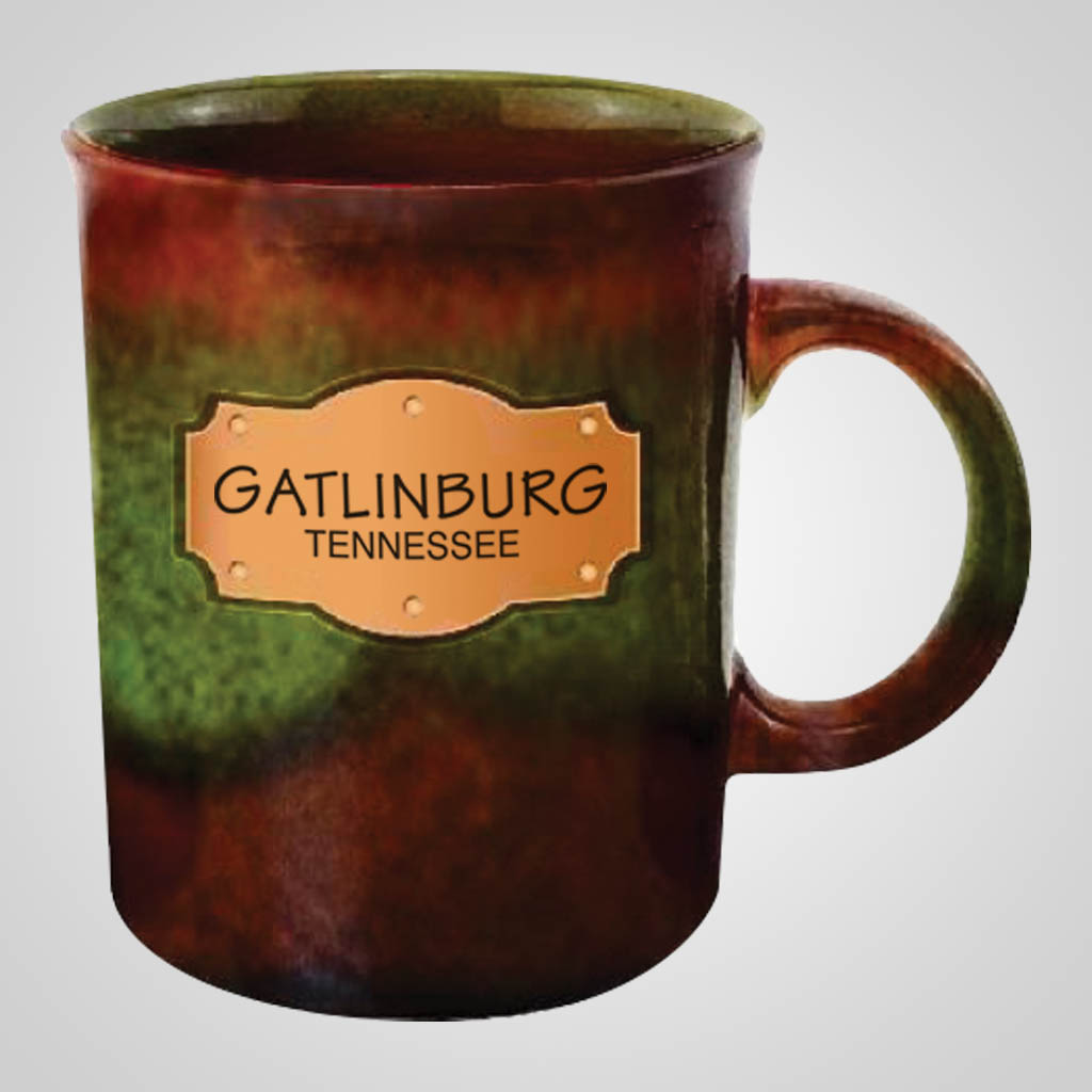 19709PP - Earth Glaze Mug With Plaque, 1 Color Print