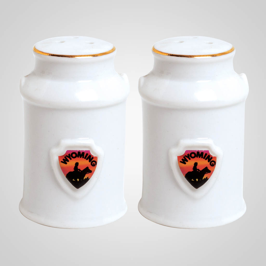 19711 - Milk Can Salt & Pepper w/Shield