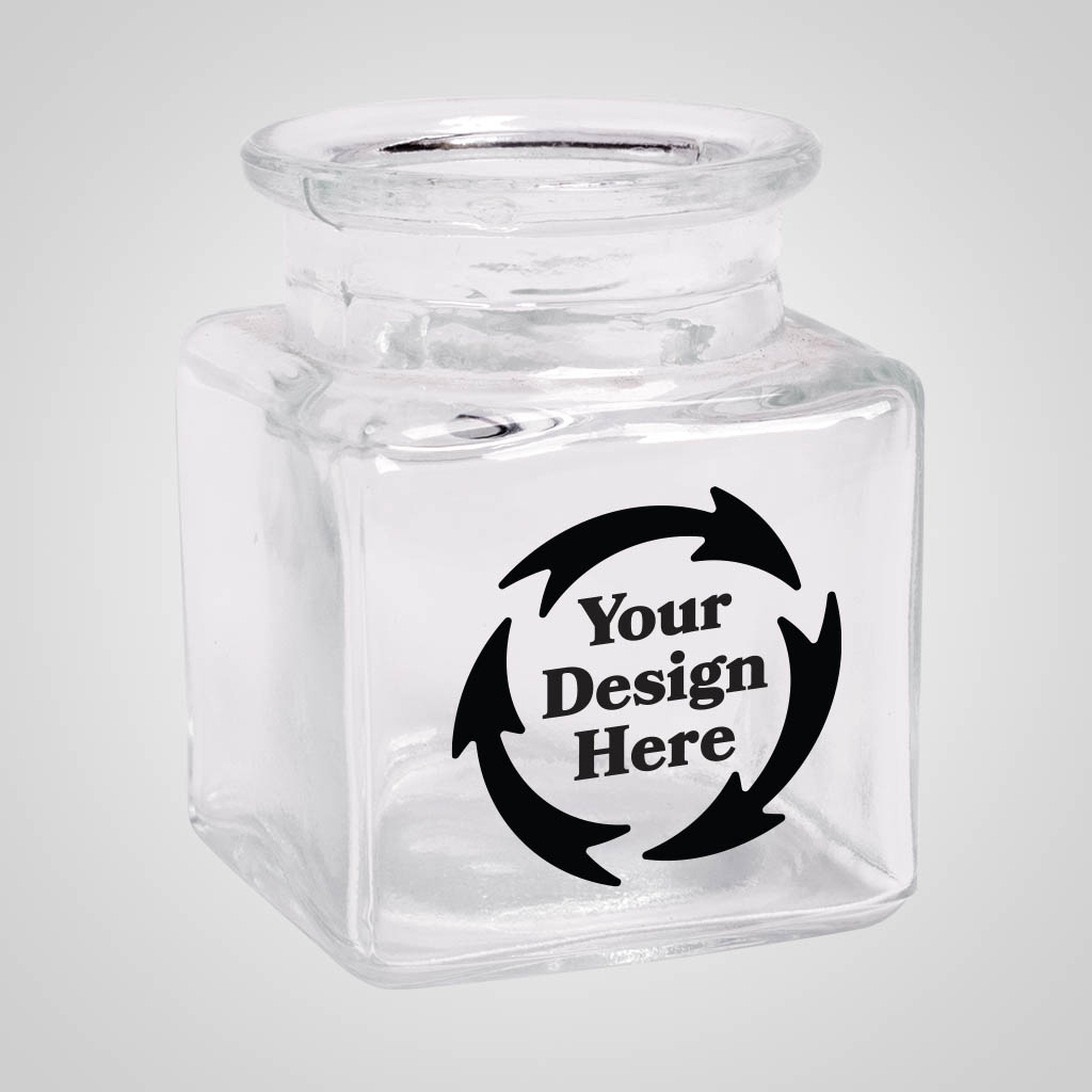 19714JP - Square Jar Shot Glass, 1 Color Print