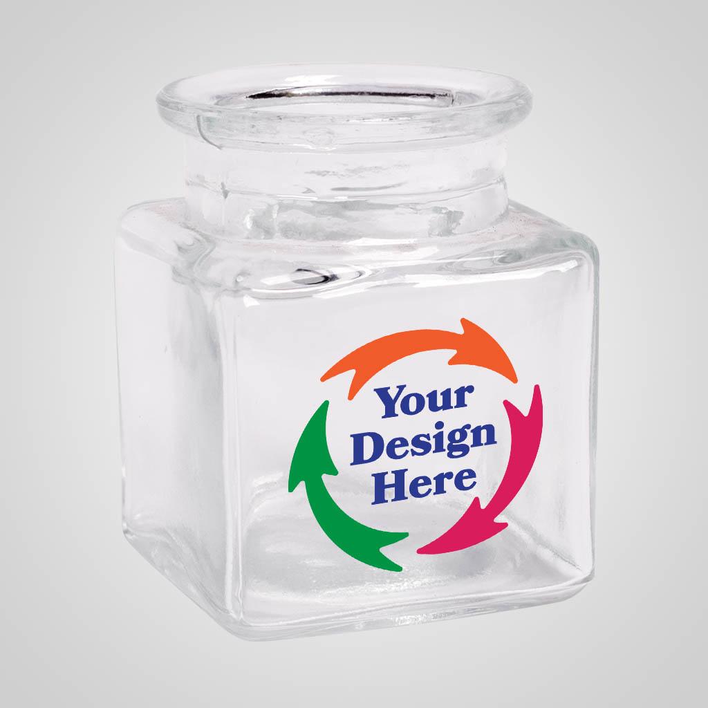 19714JPM - Square Jar Shot Glass, Multi Color Print