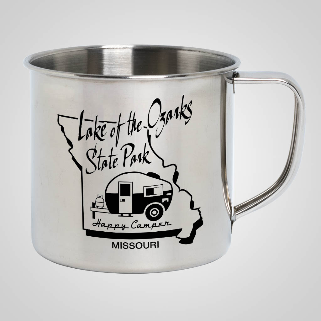 19719PP - Stainless Steel Camp Mug, 1 Color Print