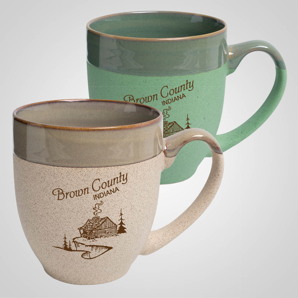 19721PP - Two-Tone Tapered Mug, 1 Color Print
