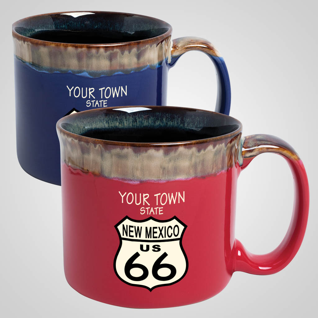 19723PPM - Drip-Glazed Rim Mug, Multi-Color Print