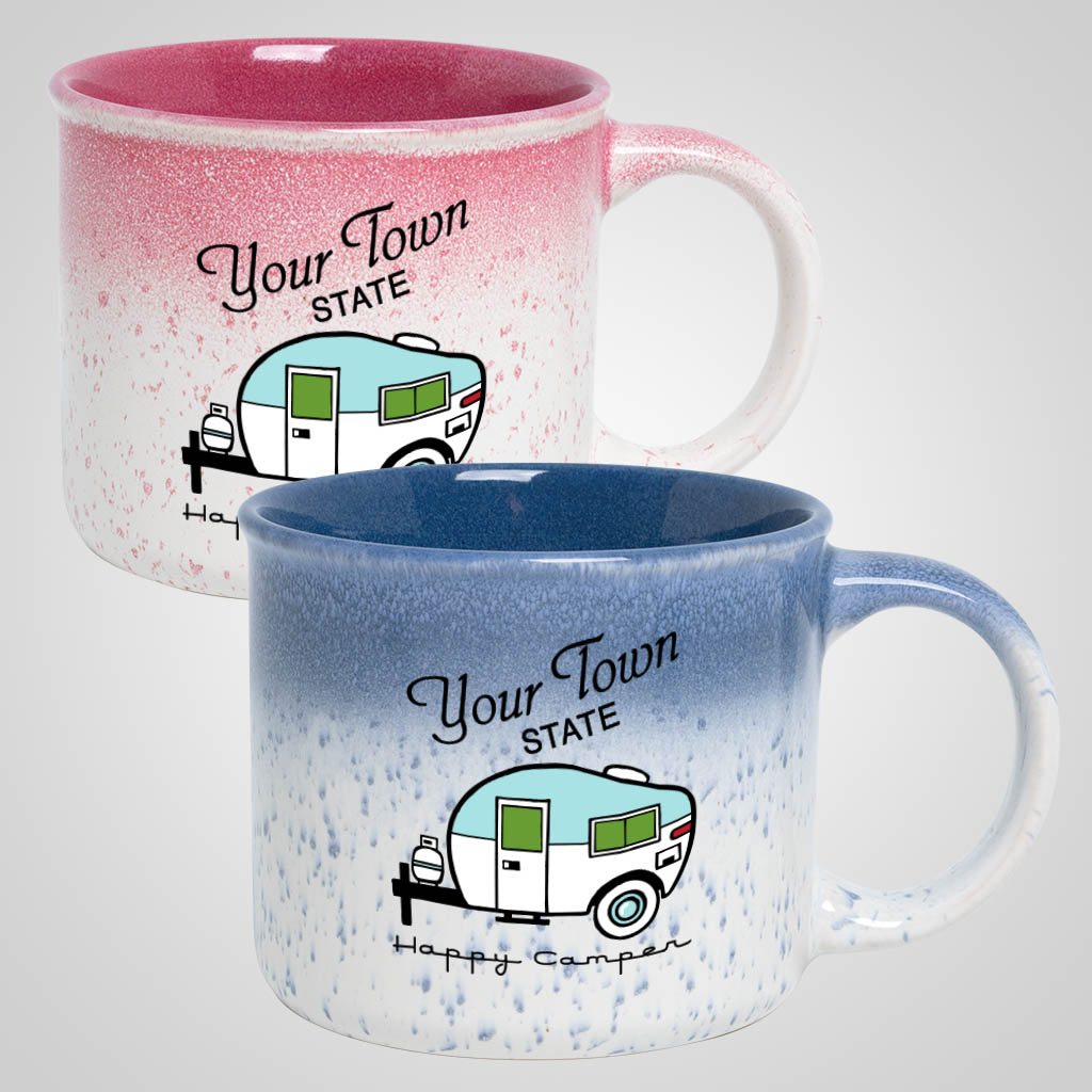 19724PPM - Speckled Blend Camp Mug, Multi Color Print