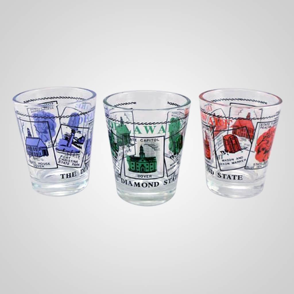 20021DE - Shot Glass, Delaware Scenes