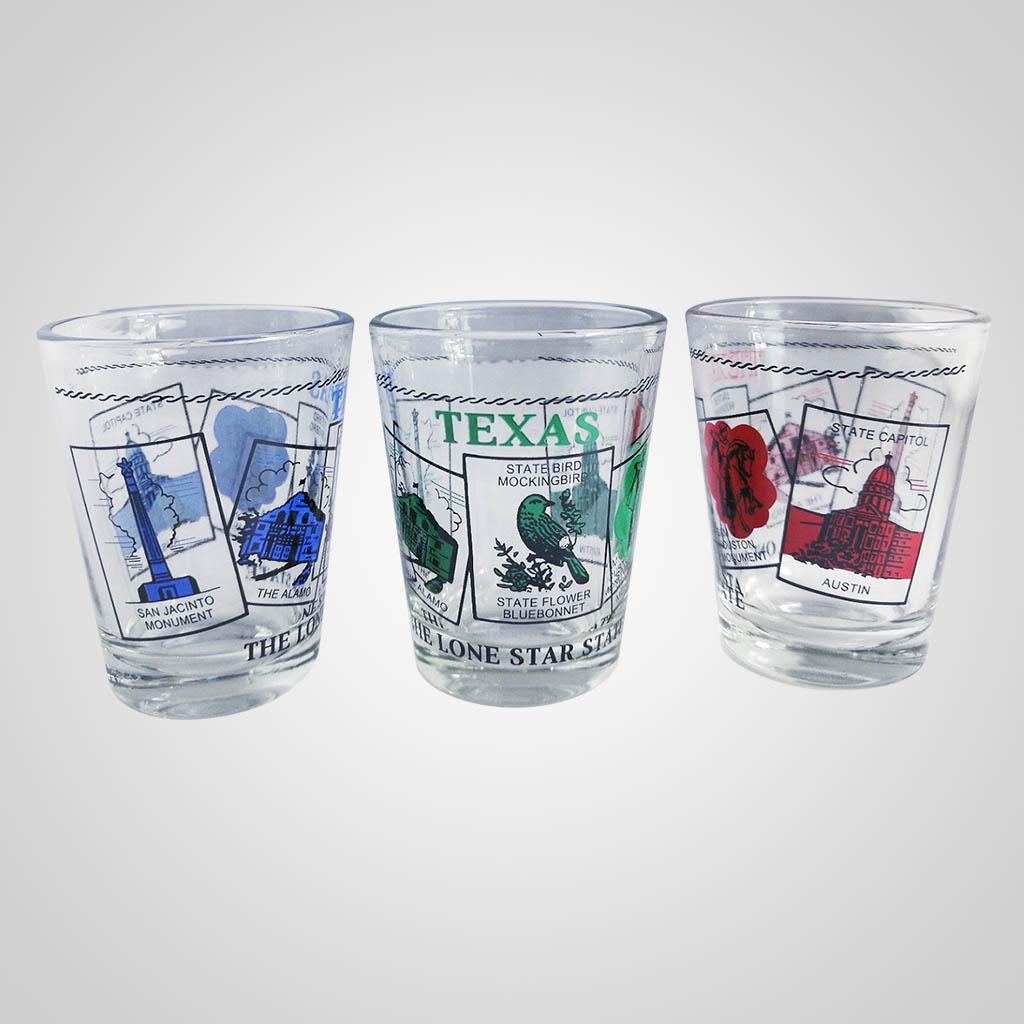 20021TX - Shot Glass, Texas Scenes